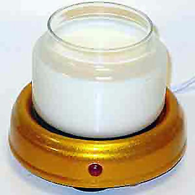 metallic gold candle warmer pad
